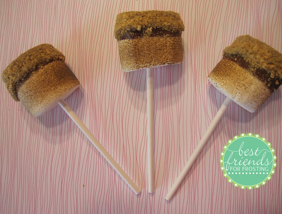 Toasted Campfire S'more Pops Recipe