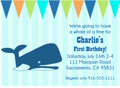 Charlies First Birthday Party Invitation