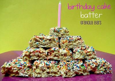 Birthday Cake Granola Bar Pops