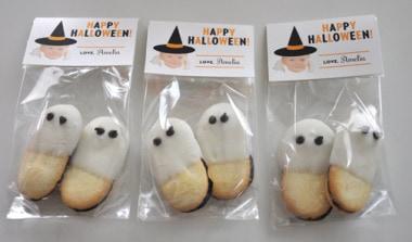 Halloween Milano Ghost Cookies