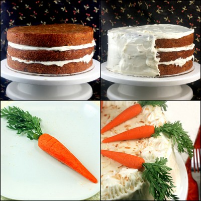Banana Ginger Carrot Cake with Coconut Cream Cheese Frosting - Best ...