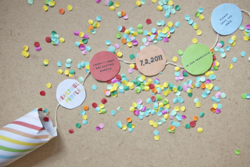 diy new years confetti invitations