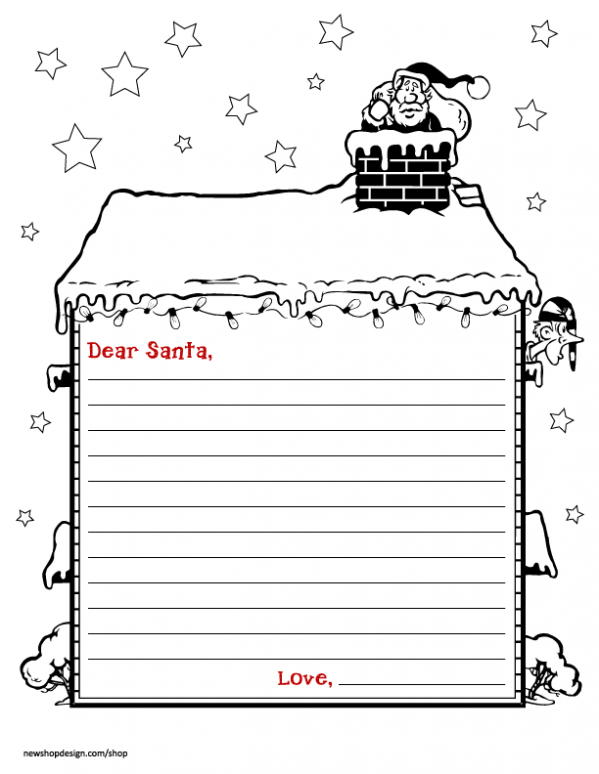 Genius image in santa letter templates free printable