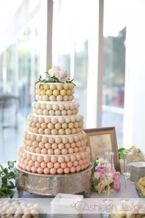 Look at this gorgeous Cake Ball Cake at The Wedding Shoebox It 39s amazing