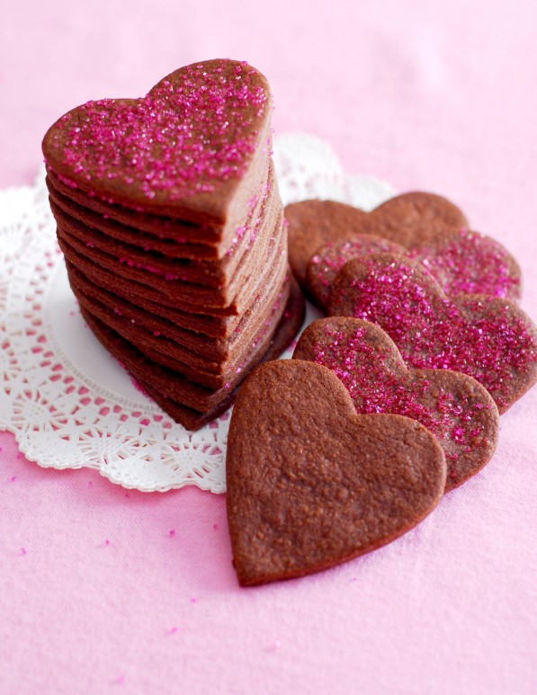 Pretty Valentines Heart Brownie Roll-Out Cookies | Best ...