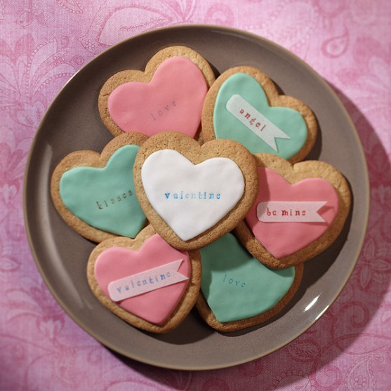 Conversation Heart Valentine Sugar Cookies - Best Friends For Frosting