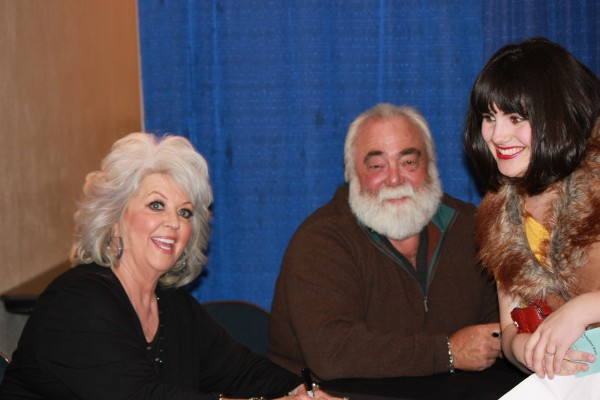 My only picture with Paula Deen and husband, Michael Groover. It's