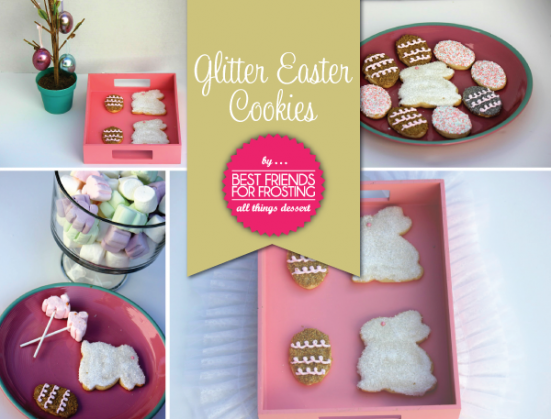 Decorated Glitter Easter Sugar Cookie