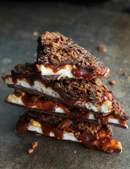 Whiskey caramel Marshmallow bacon Bark