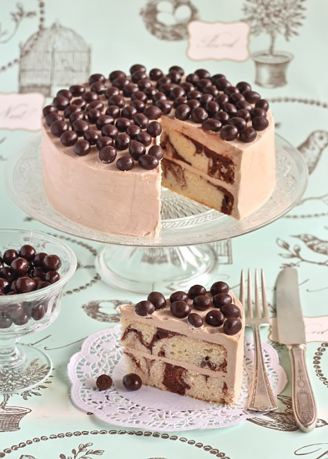 Mocha Marble Cake with Chocolate Coffee Beans | Best ...