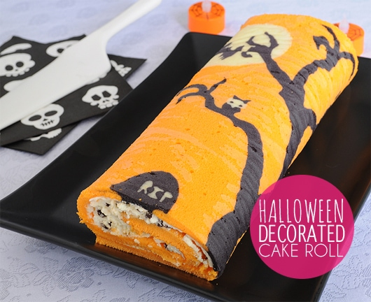 halloween cake roll - Halloween Decorated Cakes