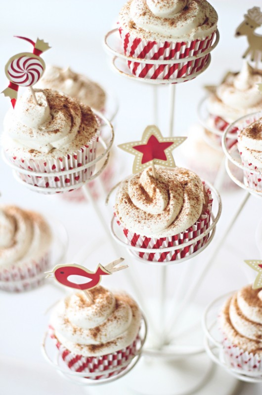 Egg Nog Cupcakes from Dashing Dish are the perfect treats to add to ...