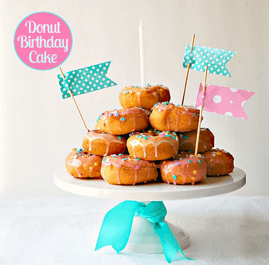Donut-birthday-cake