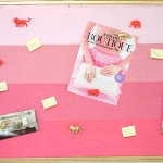 PINK OMBRE CORK BOARD DIY