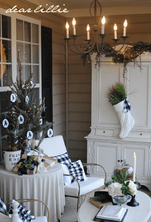 Plaid-Stocking-Pillows-Christmas-Lights-Tree-Front-Porch-Christmas-Decor