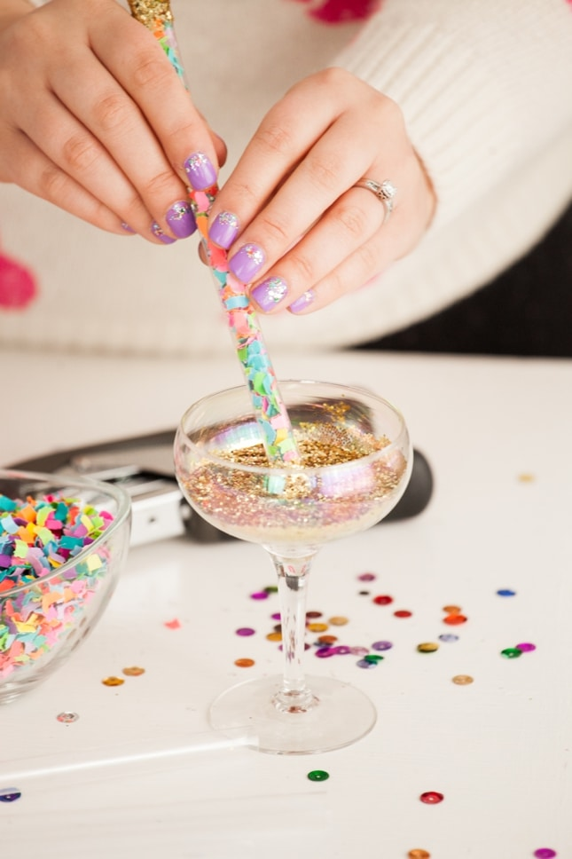 how to make glitter frosting