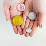 HOW TO MAKE SPARKLY CHIC GLITTER MAGNETS