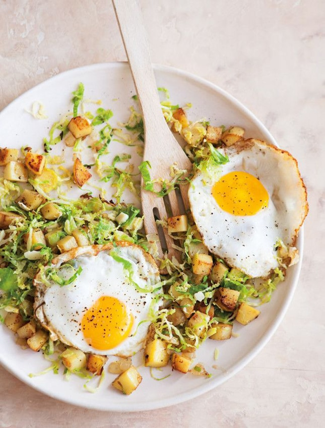 brussells-sprouts-potato-hash-fried-eggs