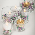 HOW TO MAKE DIY FLAMELESS GLITTER VOTIVES IN MARDI GRAS COLORS