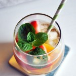 ICED GREEN TEA WITH FRUITS RECIPE