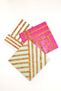 diy-geometric-print-coasters