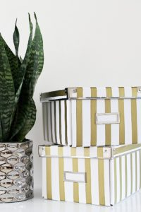 diy-gold-striped-storage-boxes-complete