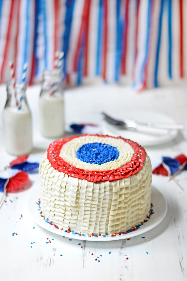 RED, WHITE, AND BLUE CAKE RECIPE | Best Friends For Frosting