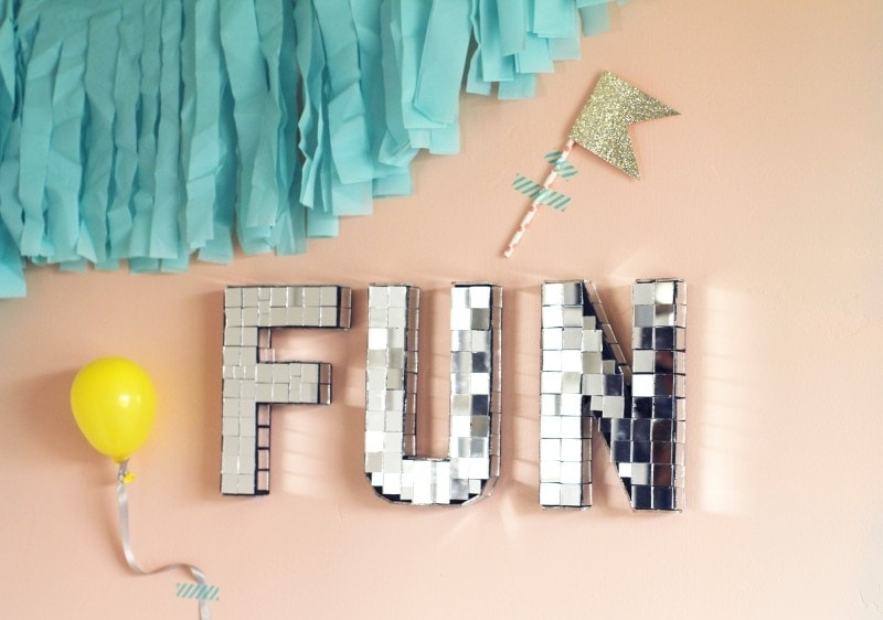 HOW TO MAKE FUN DIY DISCO LETTERS