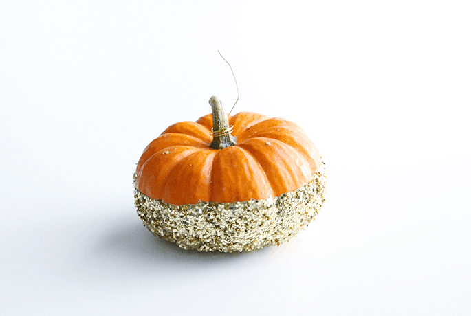 glittered-pumpkin
