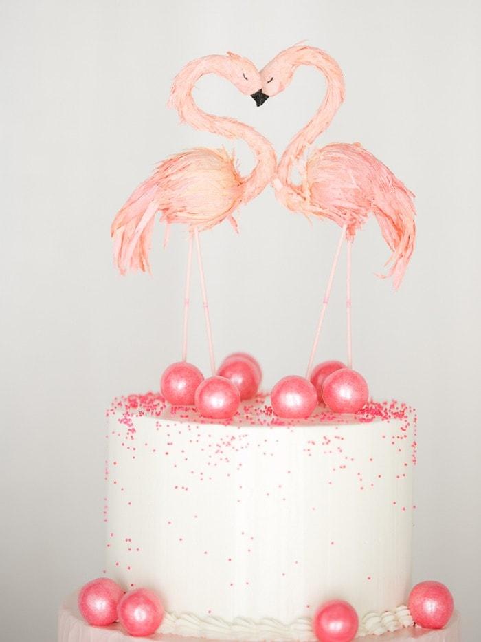 Flamingo Cake Topper Tutorial