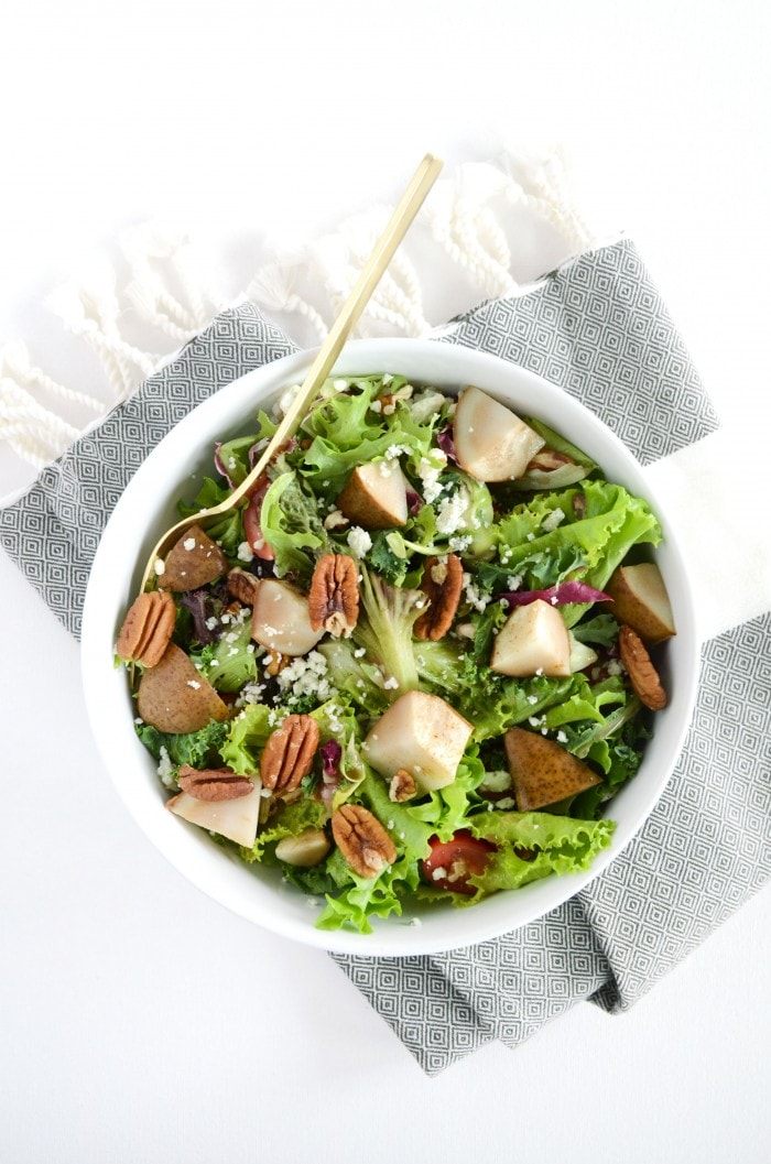 View More: http://cassandramonroe.pass.us/roasted-pear-gorgonzola-salad