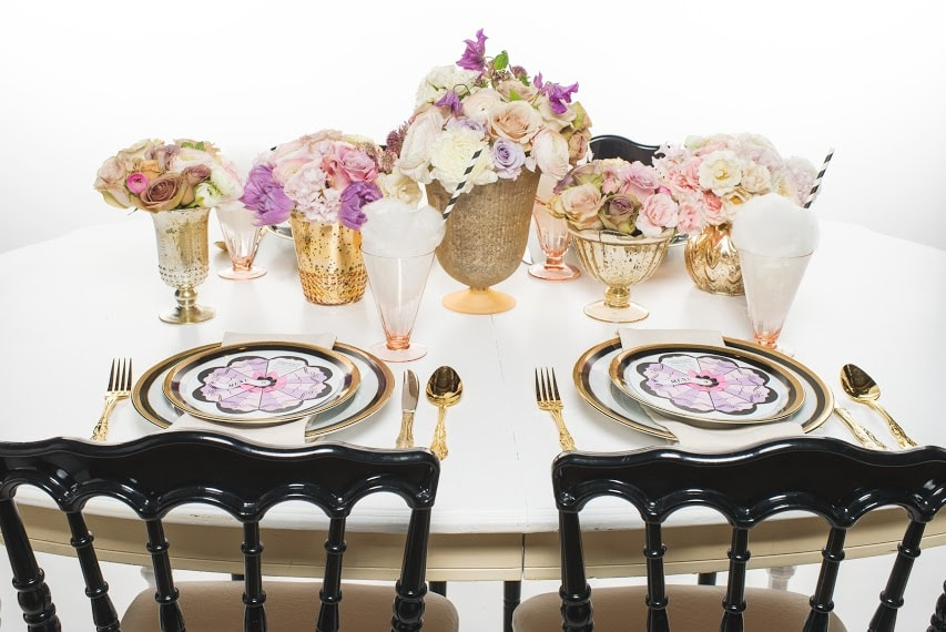 gold-purple-pink-placesetting