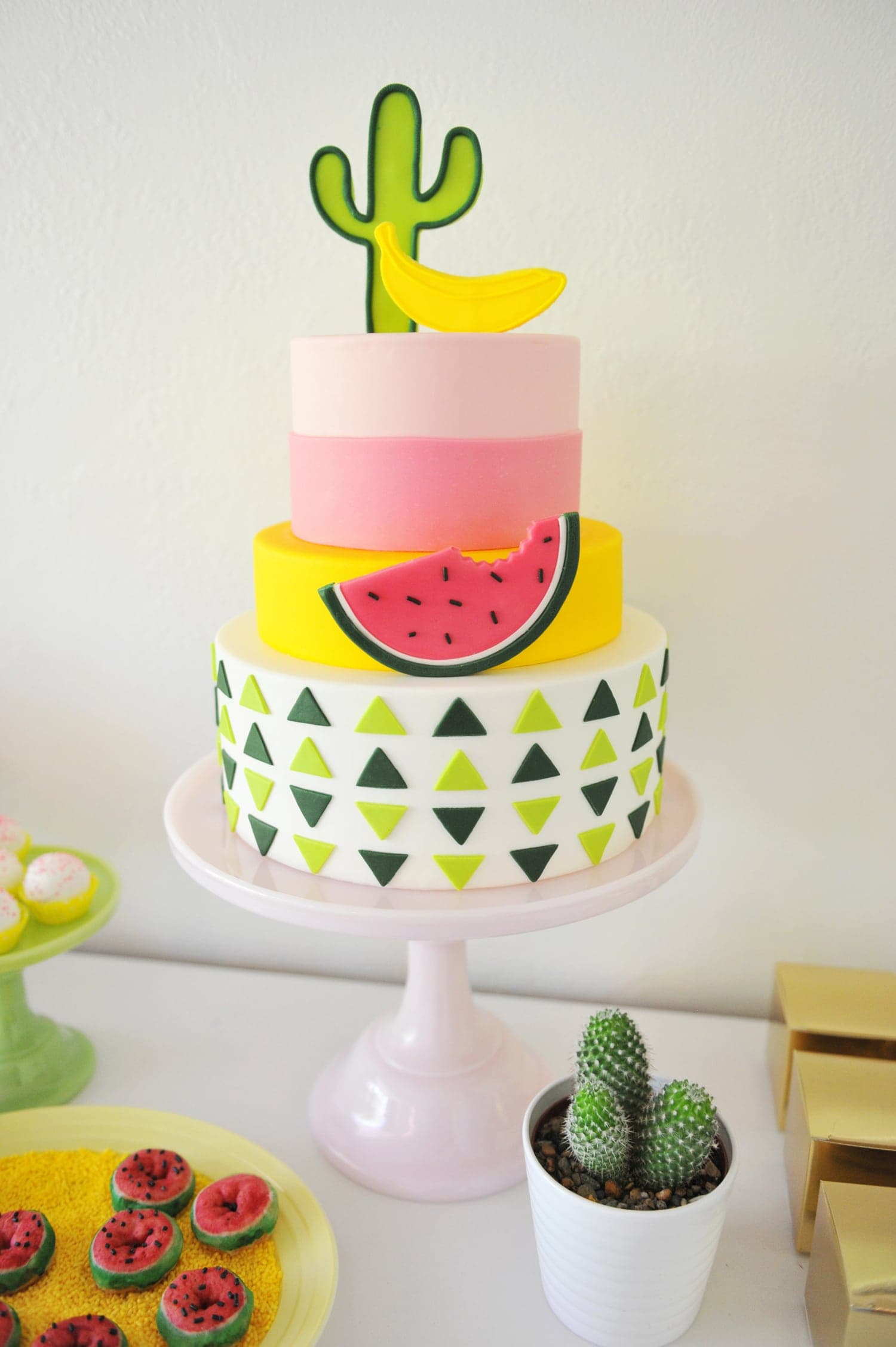 COLORFUL MODERN CACTUS & FRUIT KIDS PARTY