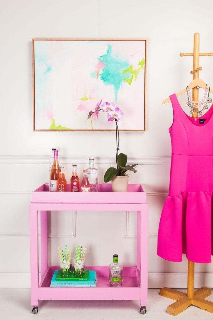 pink-bar-cart