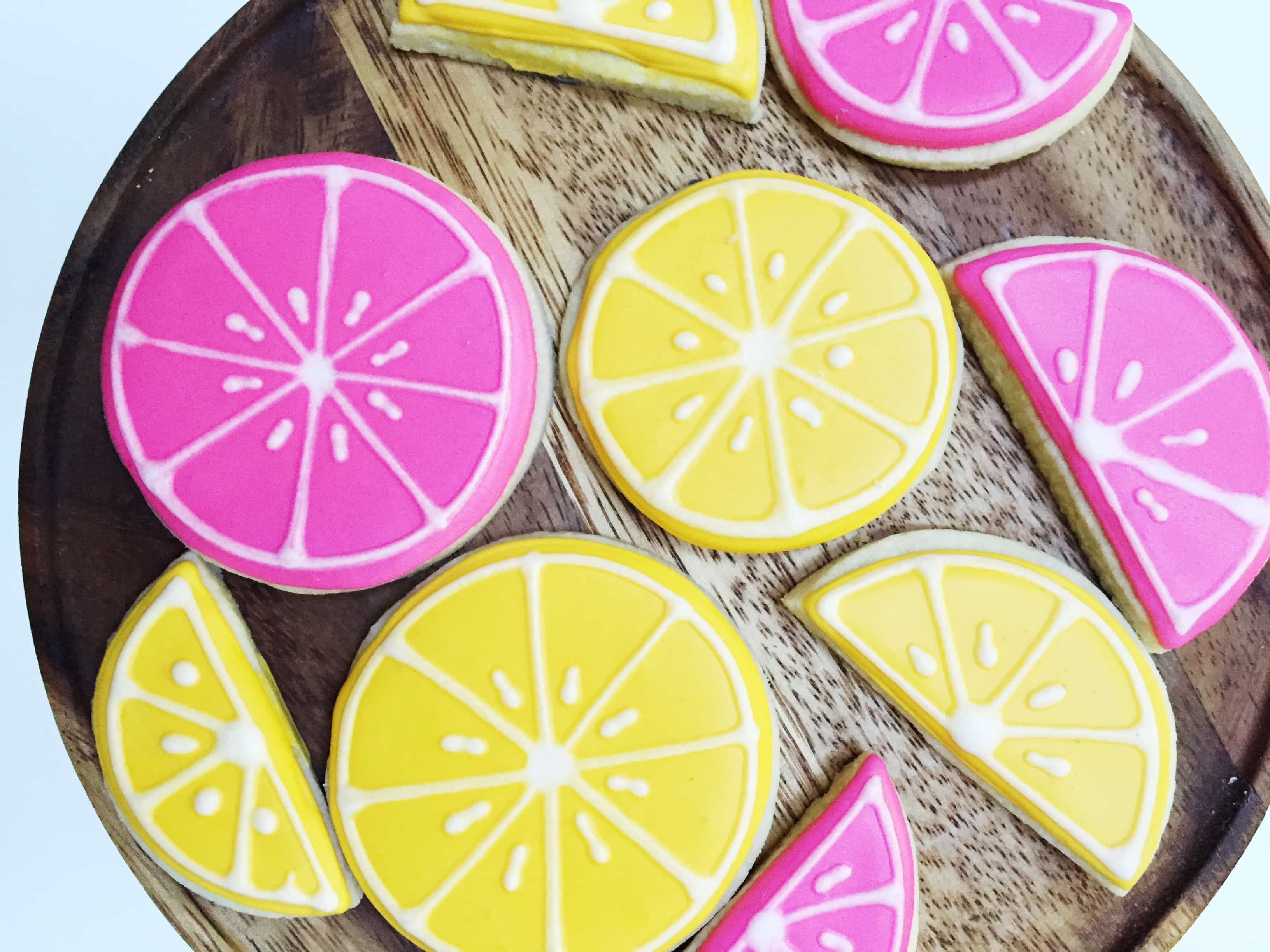Then You Must Try This Amazing Sugar Cookie Recipe! I Wanted To Incorporate  My Two Favorite Colors In The Set (pink And Yellow) While Creating A ...