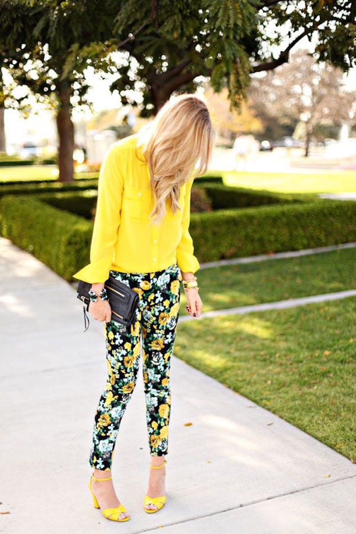 Florals-and-Yellow