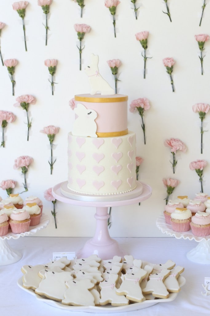 PINK-BUNNY-HEART-BABY-SHOWER-PARTY-CAKE