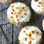 CARROT CAKE COOKIES WITH CREAM CHEESE FROSTING AND PECANS RECIPE