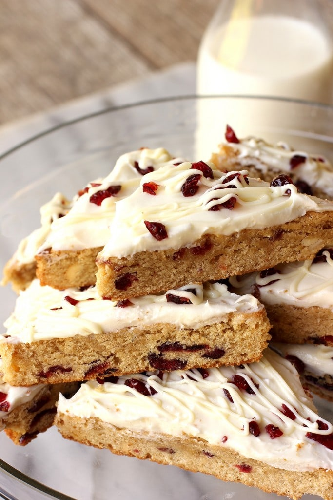 cranberry bars with cream cheese