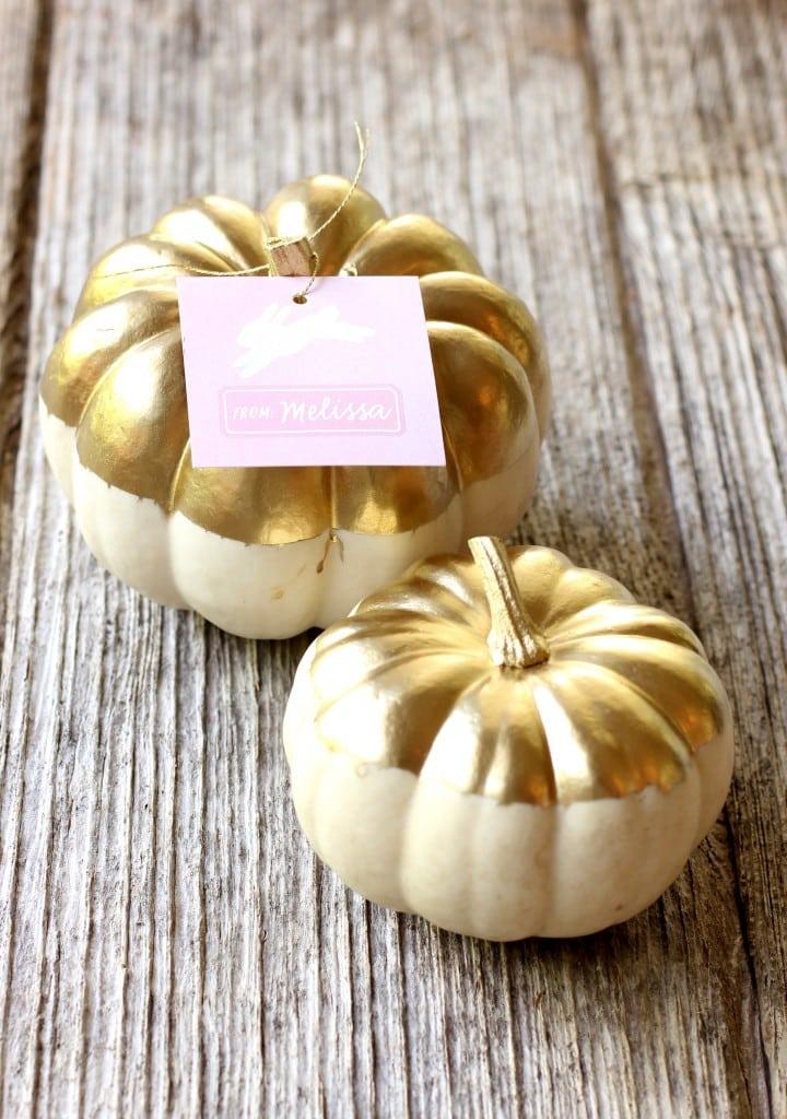 gold pumpkin diy 2