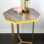 DIY WOOD + GOLD GEOMETRIC ACCENT TABLE TUTORIAL