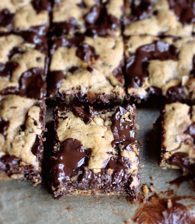 CHOCOLATE CHUNK NUT BUTTER BLONDIES RECIPE | Best Friends ...