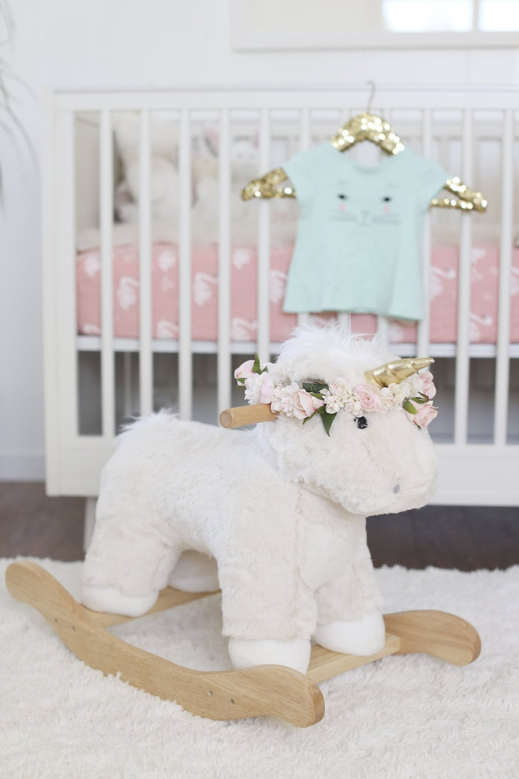 MELISSA'S ADORABLY CHIC PINK & WHITE NURSERY REVEAL