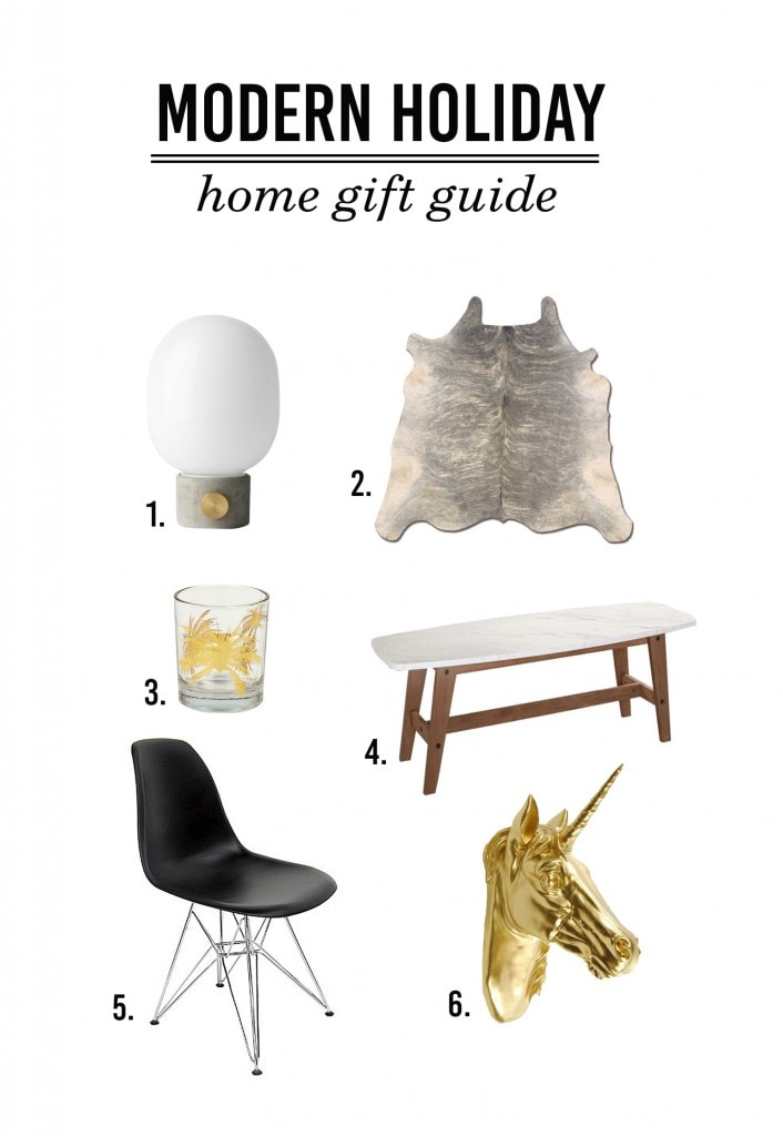 modern holiday home gift guide