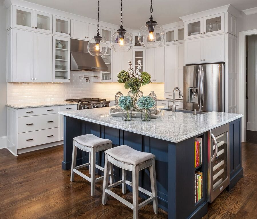 Different Color Kitchen Floors Cabinets And Islands