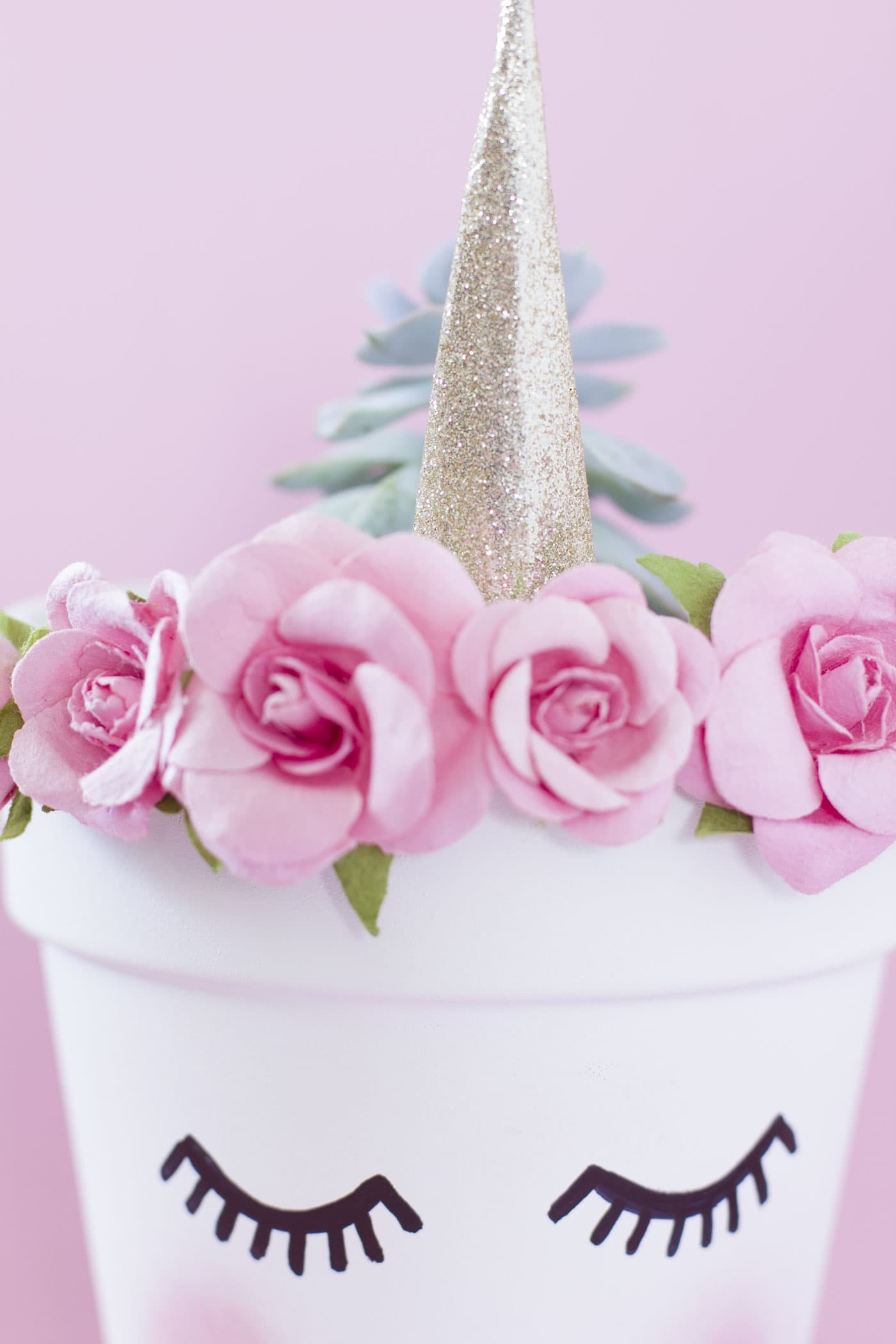 diy-unicorn-pink-planter-gold-chic