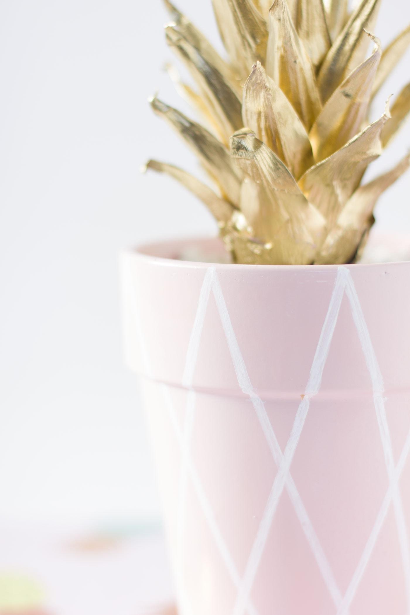 DIY PINK PINEAPPLE PLANTER