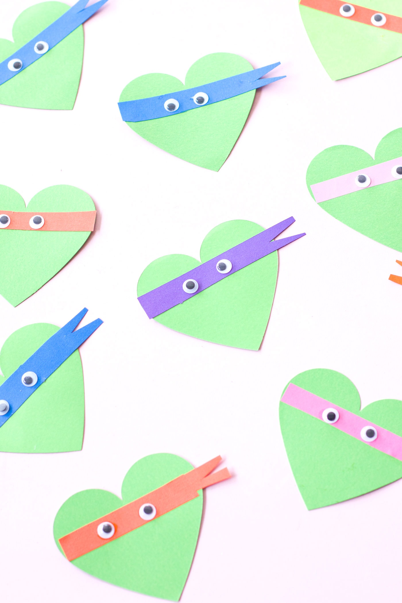 Kids Diy Ninja Turtle Valentines Cards Best Friends For Frosting