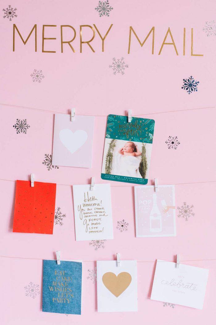 DIY Christmas Card Display Holder | Best Friends For Frosting