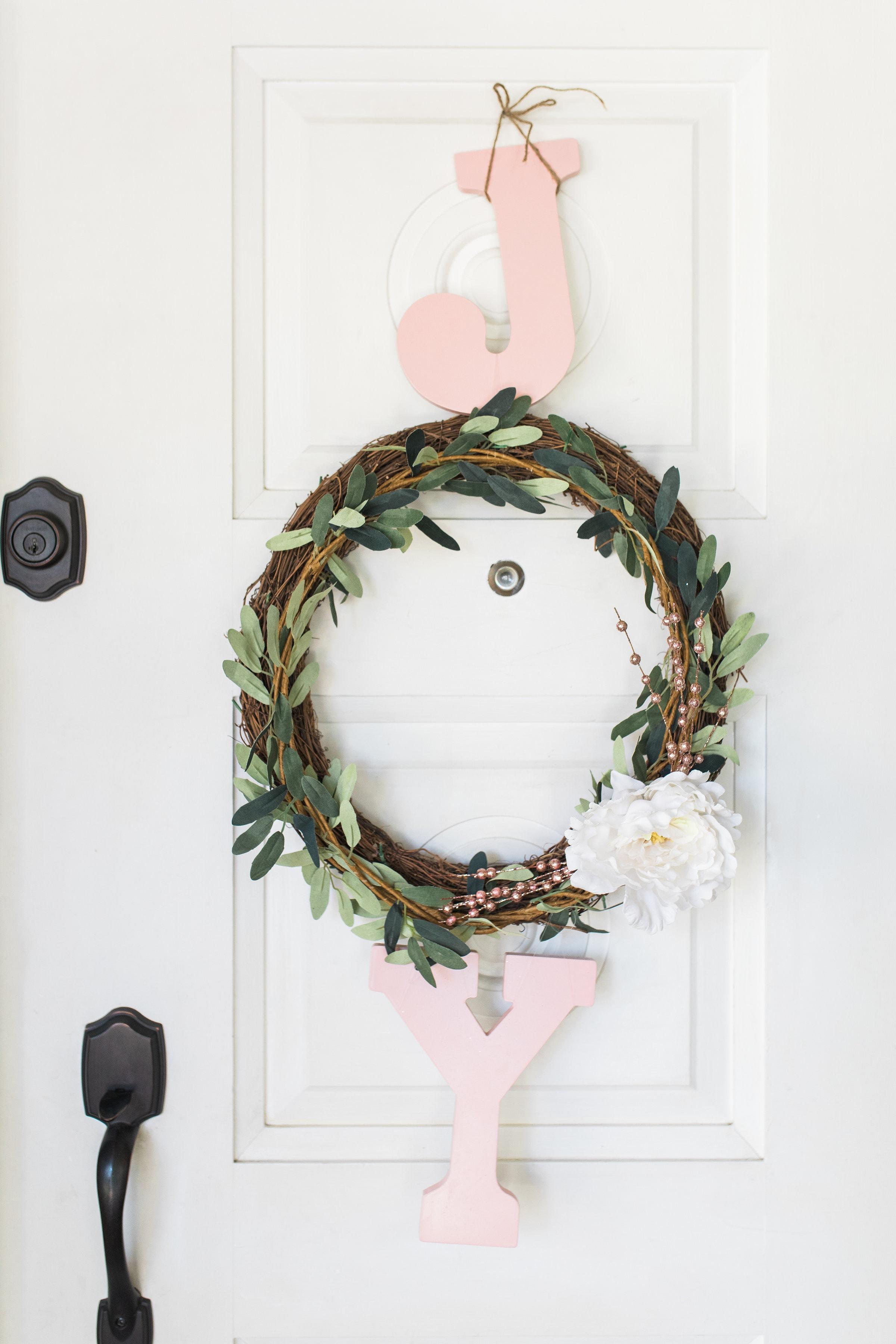 Pink Joy Christmas Wreath